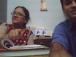 Darshana in Sr. Olga's office