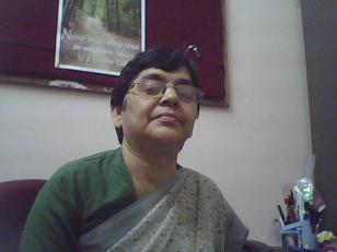 Sr. Olga, principal of Nirmala Kindergarten,  in her office